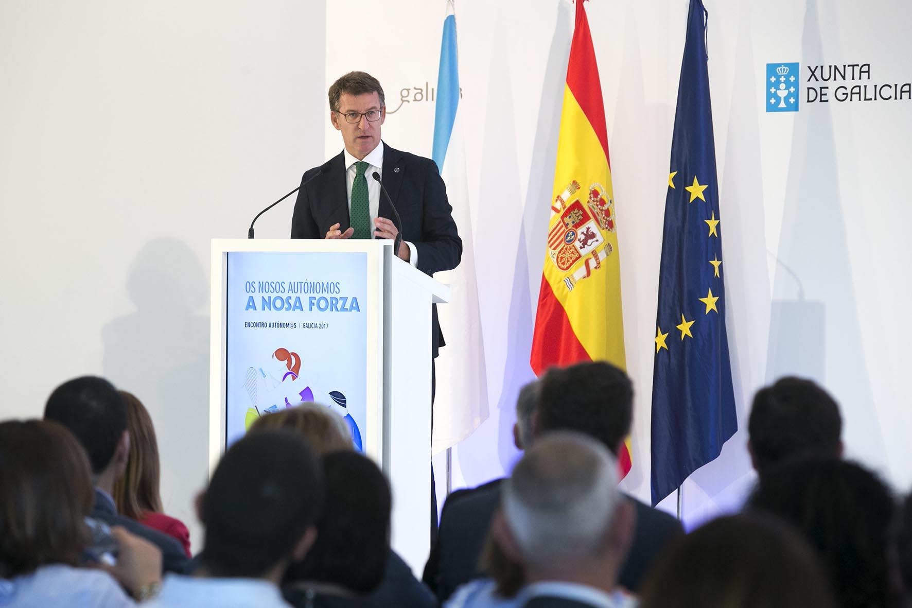 Intervención del presidente de la Xunta en la encuentro de autónomos
